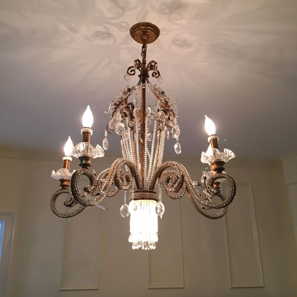 28 brass and crystal chandelier with 6 bulb sockets cost me 400 28 brass and crystal chandelier with 6 bulb sockets cost me 400 aloadofball Choice Image