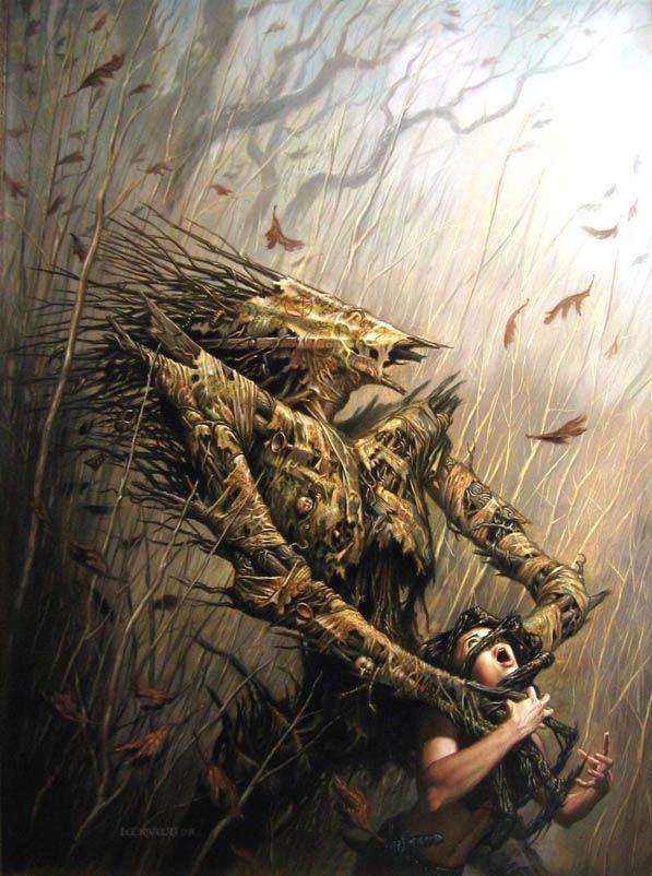 Wood Golem Todd Lockwood Ripples From Carcosa Pinterest