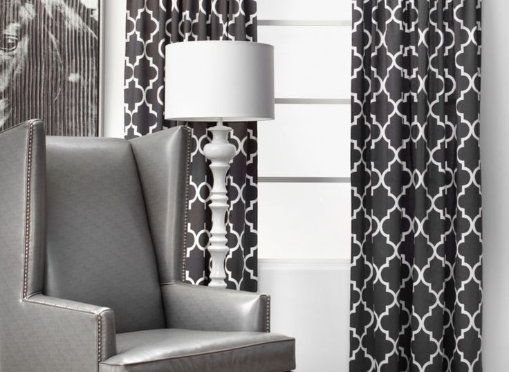 Fantastic Black And White Patterned Curtains Or The 167 Best Images About On Pinterest