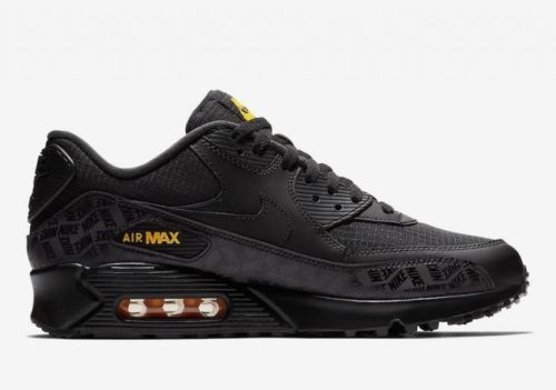 a7b85e4bce9a Nike Air Max 90 Black Black Amarillo Yellow BQ4685 001 Mens Trainer Size  8-13