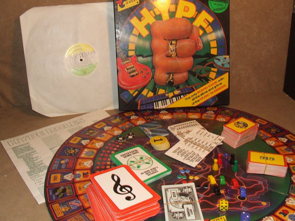Hype Music Business Board Game By Virgin Games Includes 12 Single