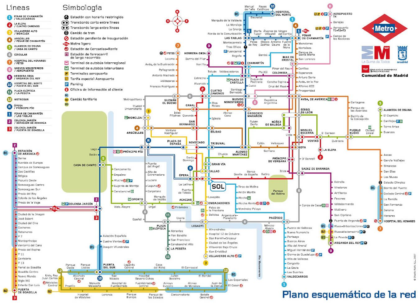 Subway Map Of Madrid Spain.Madrid Metro Map Madrid Spain Mappery M A P Madrid Karty