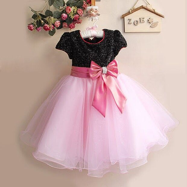Free shipping 2017 New arrival girls party dress beautiful rose bow ...