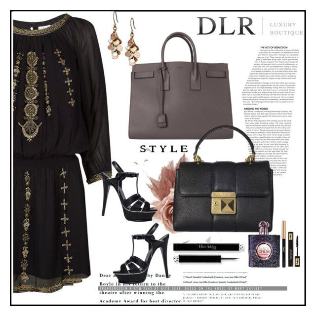 """DLRBOUTIQUE.COM"" by lila2510 ❤ liked on Polyvore featuring Joie, NERIDA FRAIMAN, Yves Saint Laurent, Sonia Rykiel, Lucky Brand, DLRLuxuryBoutique and dlrboutique"