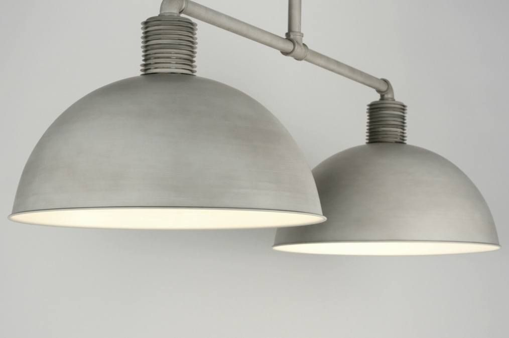 Hanglamp modern industrie look grijs interieur