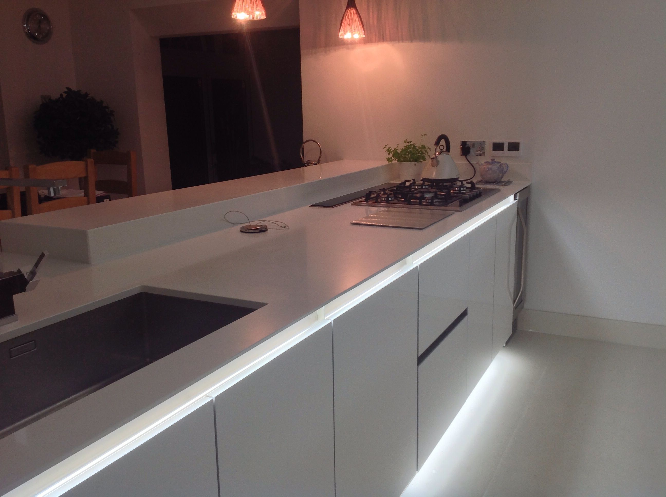 kitchen ambient lighting. A Modern German Handleless Kitchen By Bauformat Kitchens With Ambient Lighting. Lighting P