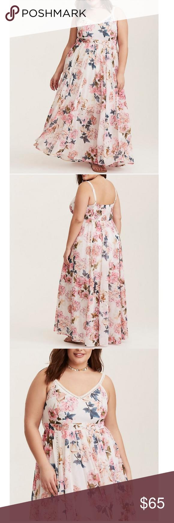 Sold Last One Torrid Ivory Floral Maxi Dress Ivory Floral Maxi Dress Crochet Maxi Dress Floral Maxi Dress [ 1740 x 580 Pixel ]