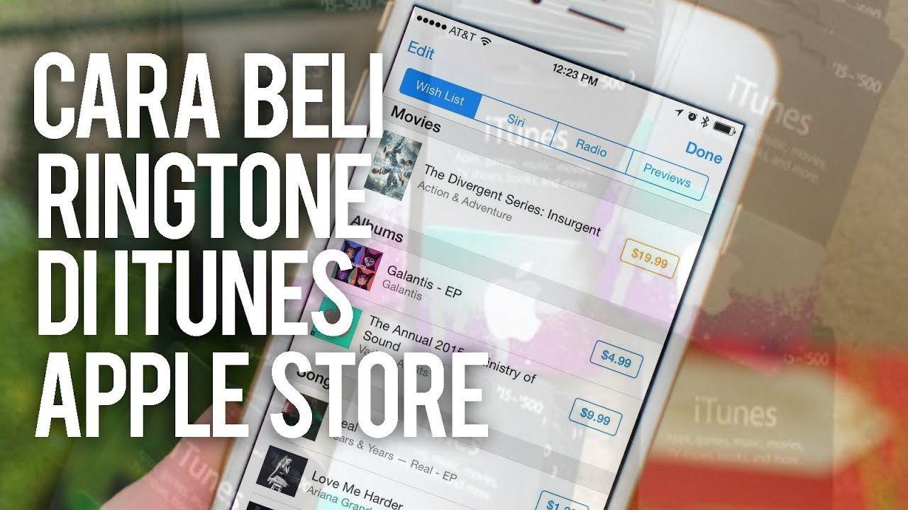 Cara Membeli Ringtone Di Itunes Untuk Iphone Ipad Ios Trik Android