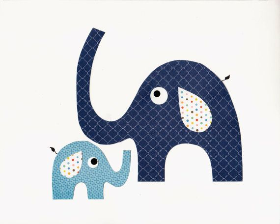 Daddy and Me Elephant Nursery Artwork Print // Baby Room Decoration // Kids Room Decoration // Gifts Under 20 on Etsy, $14.00