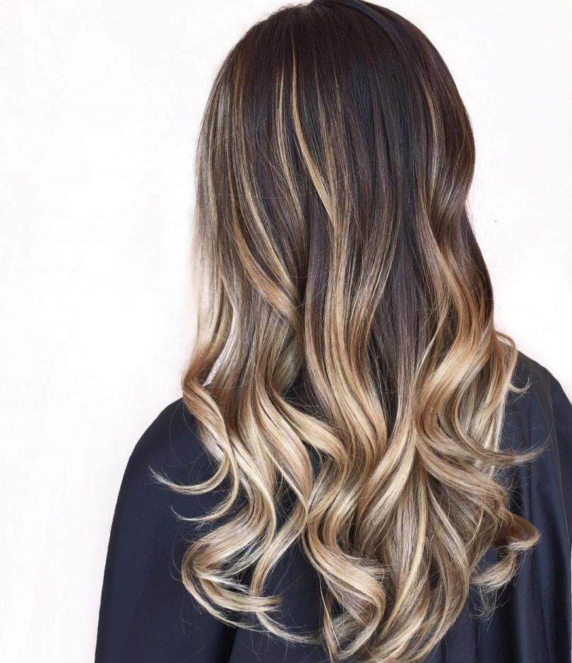 30 brown colored hairstyles with blonde balayage 2017 for Balayage braun blond
