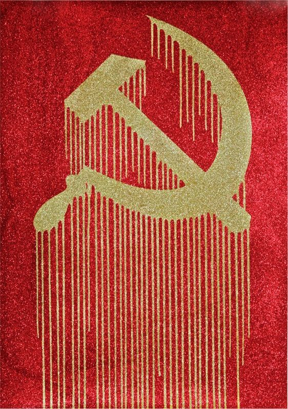 Zevs Liquidated Hammer Sickle Some Prints Are More Equal Than Others Arte Moderno Pintura Serigrafia Arte Hammer and sickle hd wallpaper