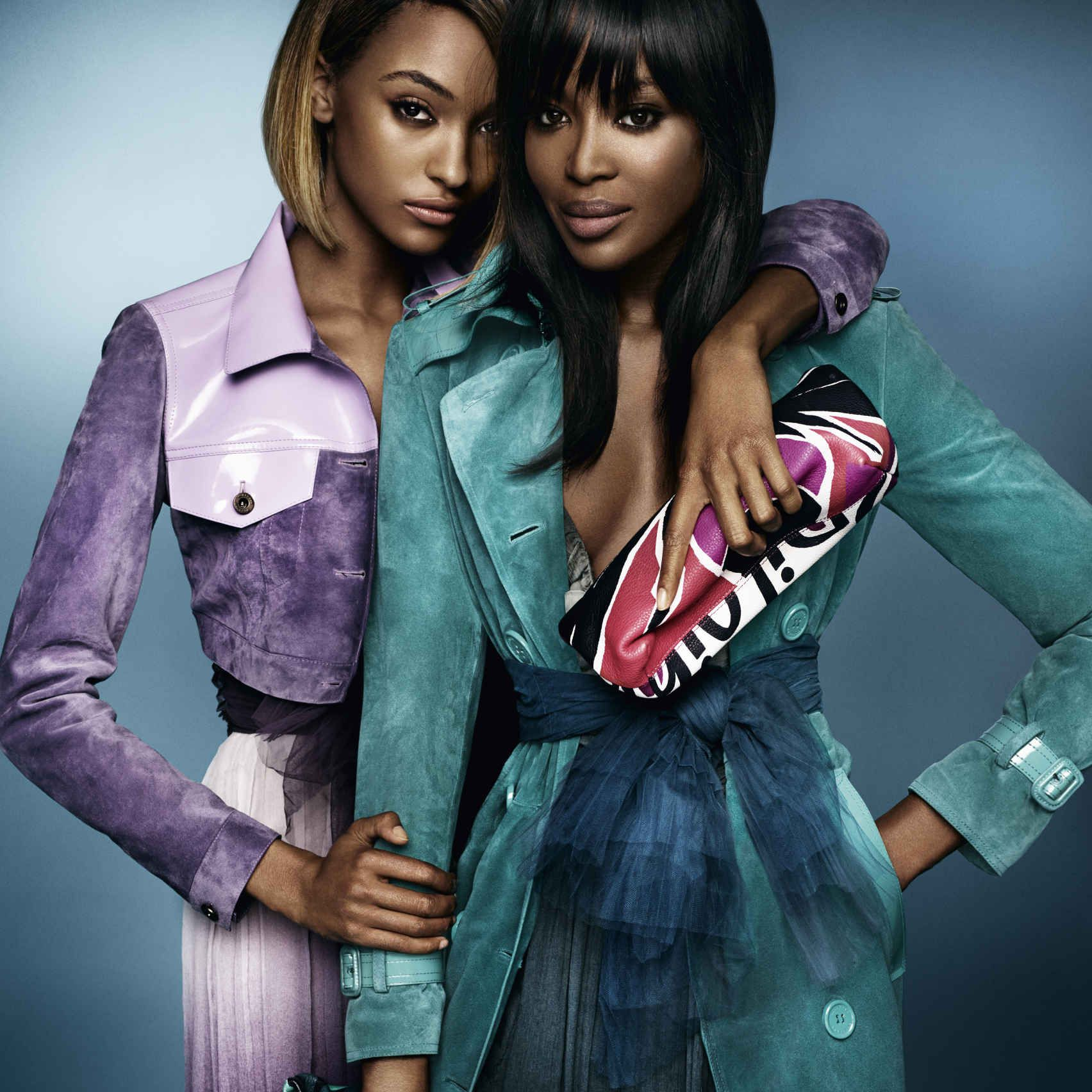 Naomi Campbell And Jourdan Dunn Star In Burberry's Spring