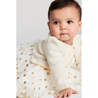 af04702e8 Baby Girls  Dressy Cardigan - Just One You made by carter s Gold ...