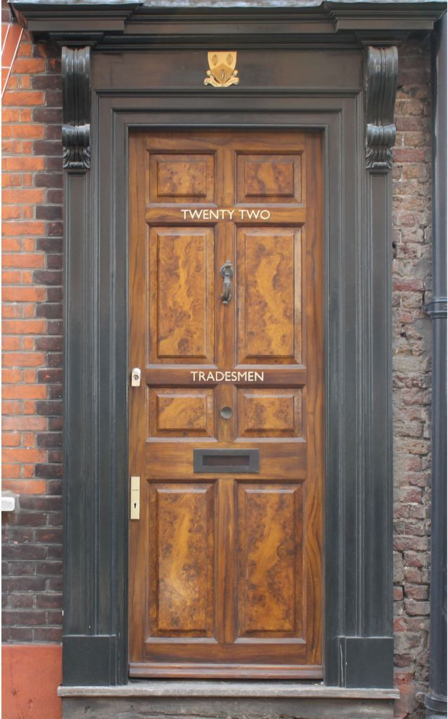 An early Georgian front door in East London | Small Space Decorating ...