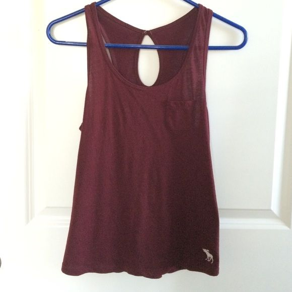 Maroon Tank with Keyhole Back worn twice. open to offers. also on Ⓜ️ercari Abercrombie & Fitch Tops Tank Tops