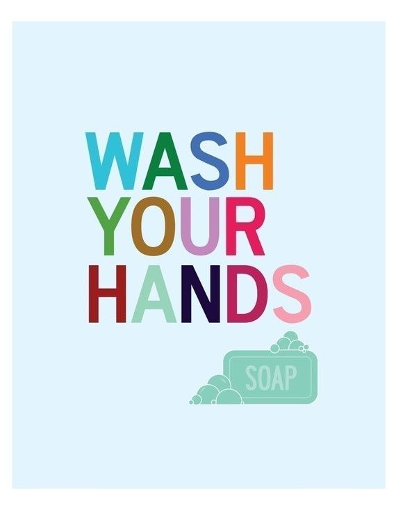 Bathroom Art Print Bathroom Sign Wash Your Hands Sign Kids