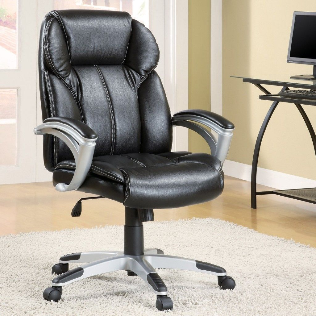 comfortable chair for office. Office Workspace. Black Comfort Chair From Leather Set Above Grey Fur Rug In The Comfortable For C