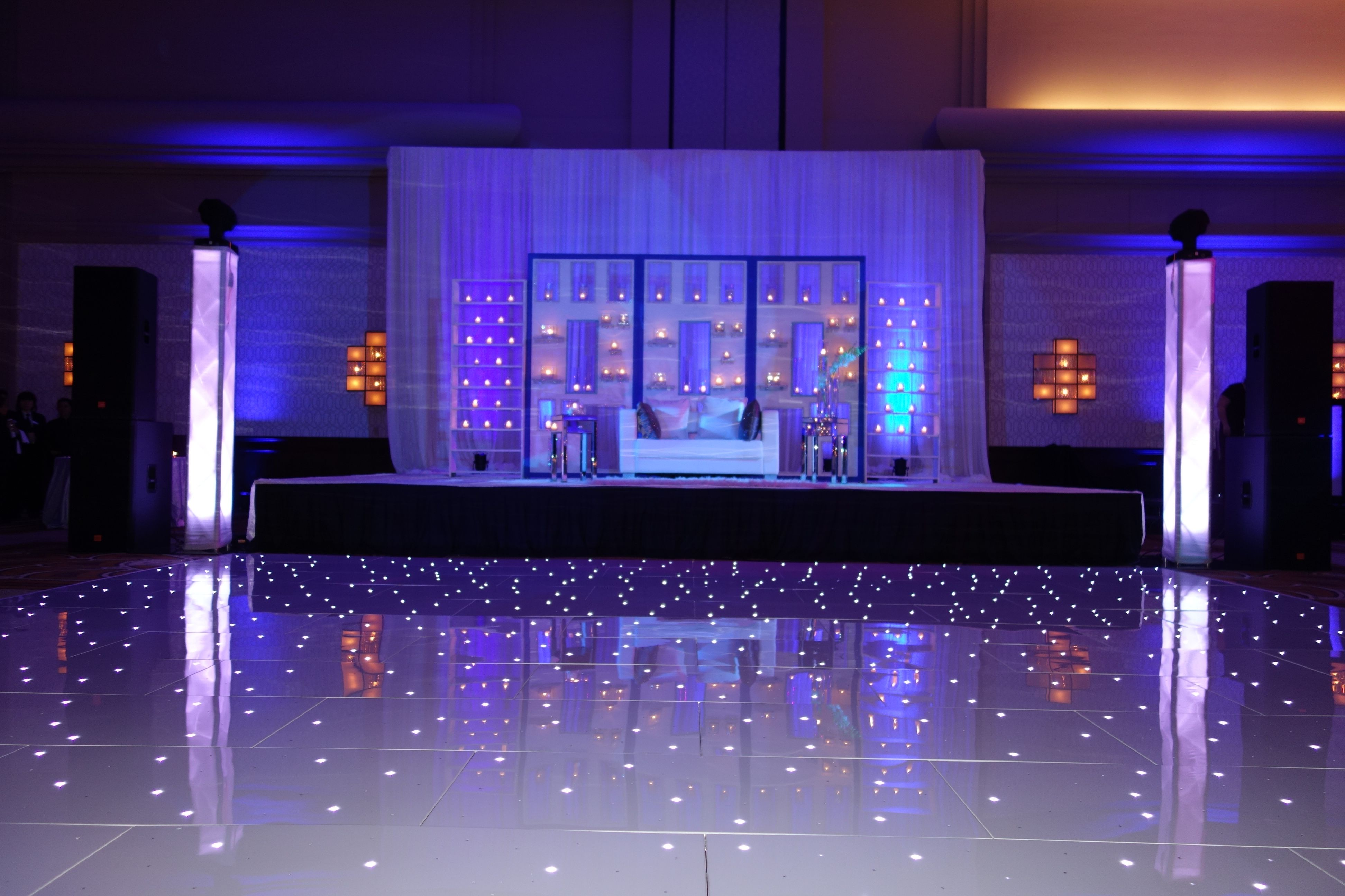 Beautiful Wedding Reception Decor With Our White Starlit
