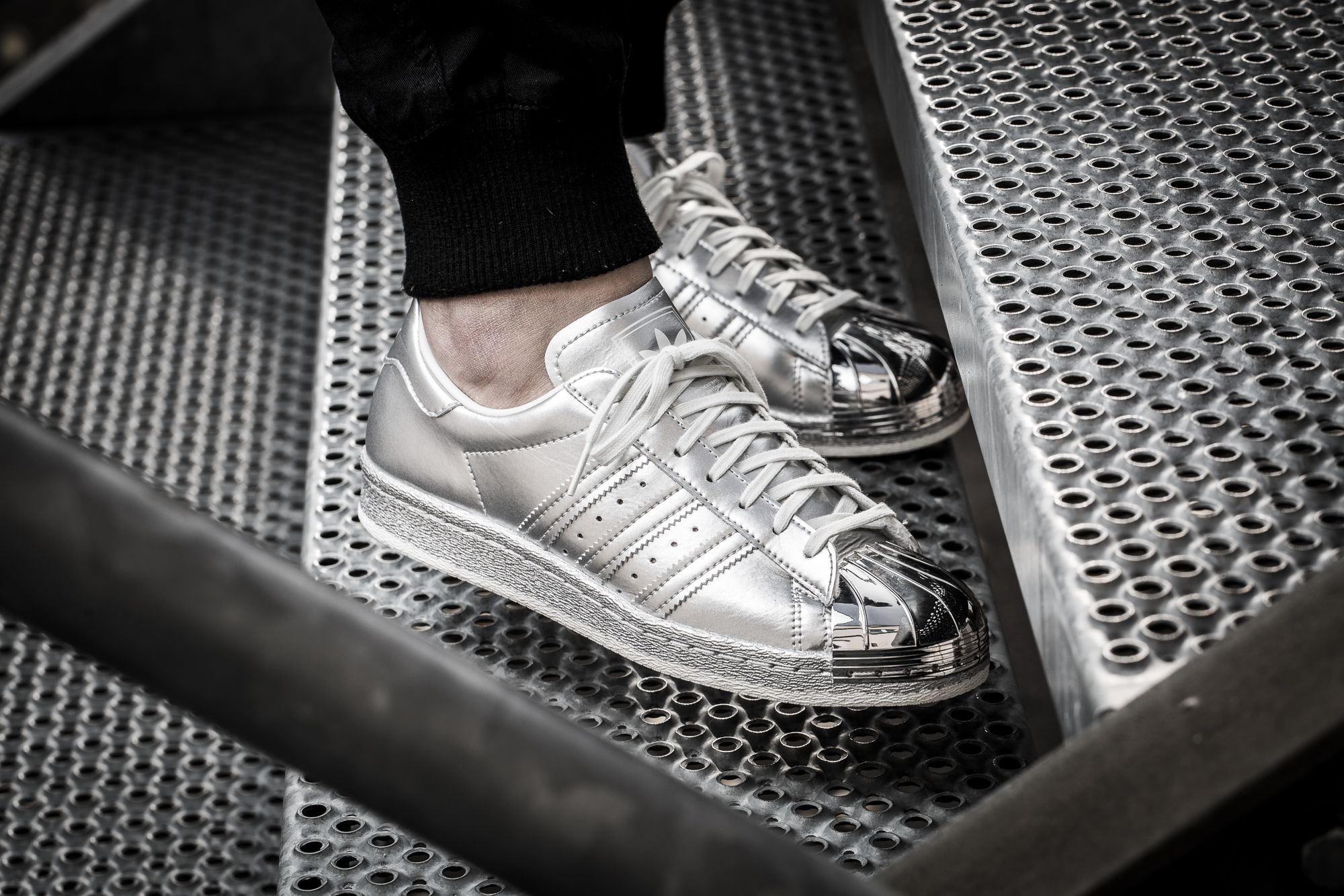 best sneakers fe9b6 c703f Girls, check out this silver beauty! The adidas Originals Superstar 80s  from the