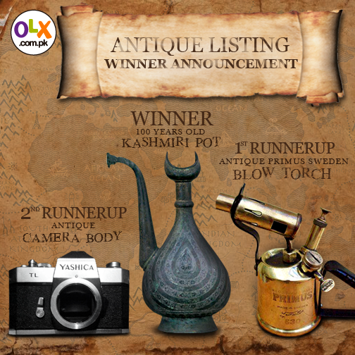 Congratulations to the Winner & Runnersup of our Antique