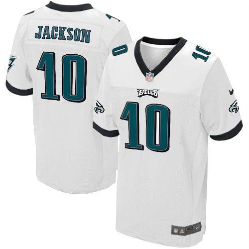 mens nike philadelphia eagles 10 desean jackson elite white jersey 129.99