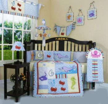 Baby Boy Sea Creature Bedding
