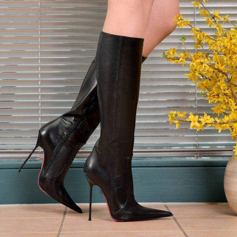 Boots - ST-301 - Vitello nero - High Heels Shop by FUSS Schuhe -