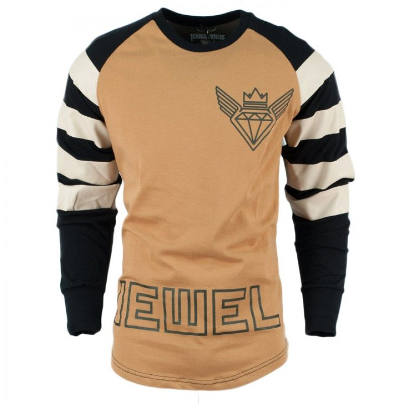 Lovely Look Fly In The Jewel House Rugby Striped Sleeve Jersey. Available For $60  On CityGear.com