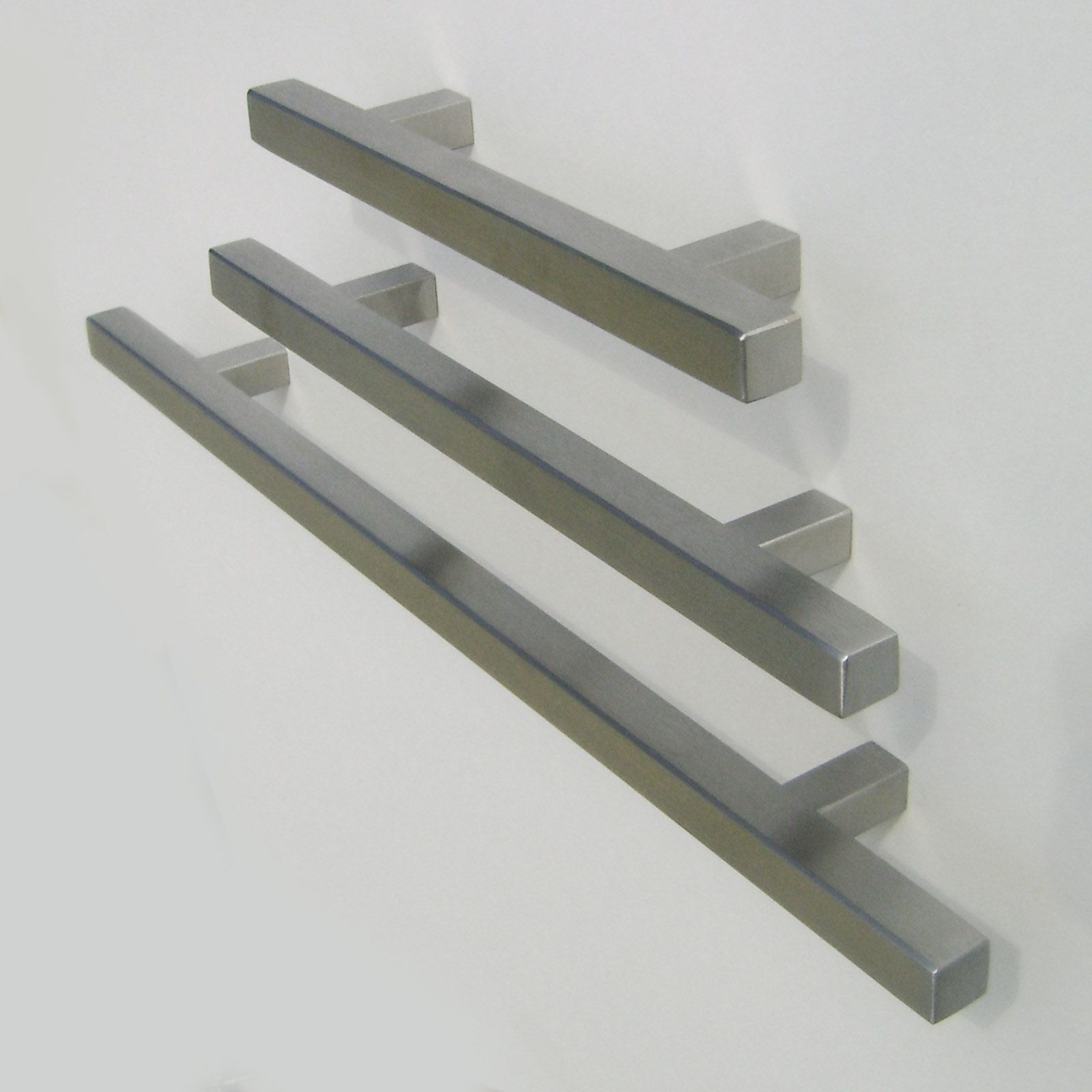 pi square bar pulls brushed nickel cabinet door and drawer pulls