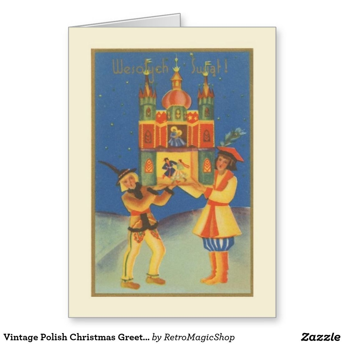Vintage Polish Christmas Greeting Card | Vintage International ...