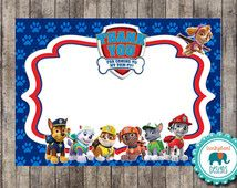 Instant Download Paw Patrol Thank You Card For Birthday Parties