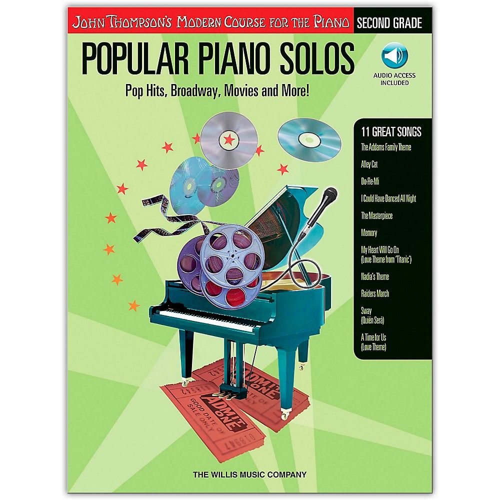 Music john thompsons modern course for piano popular piano solos willis music john thompsons modern course for piano popular piano solos grade 2 bookonline audio fandeluxe Gallery