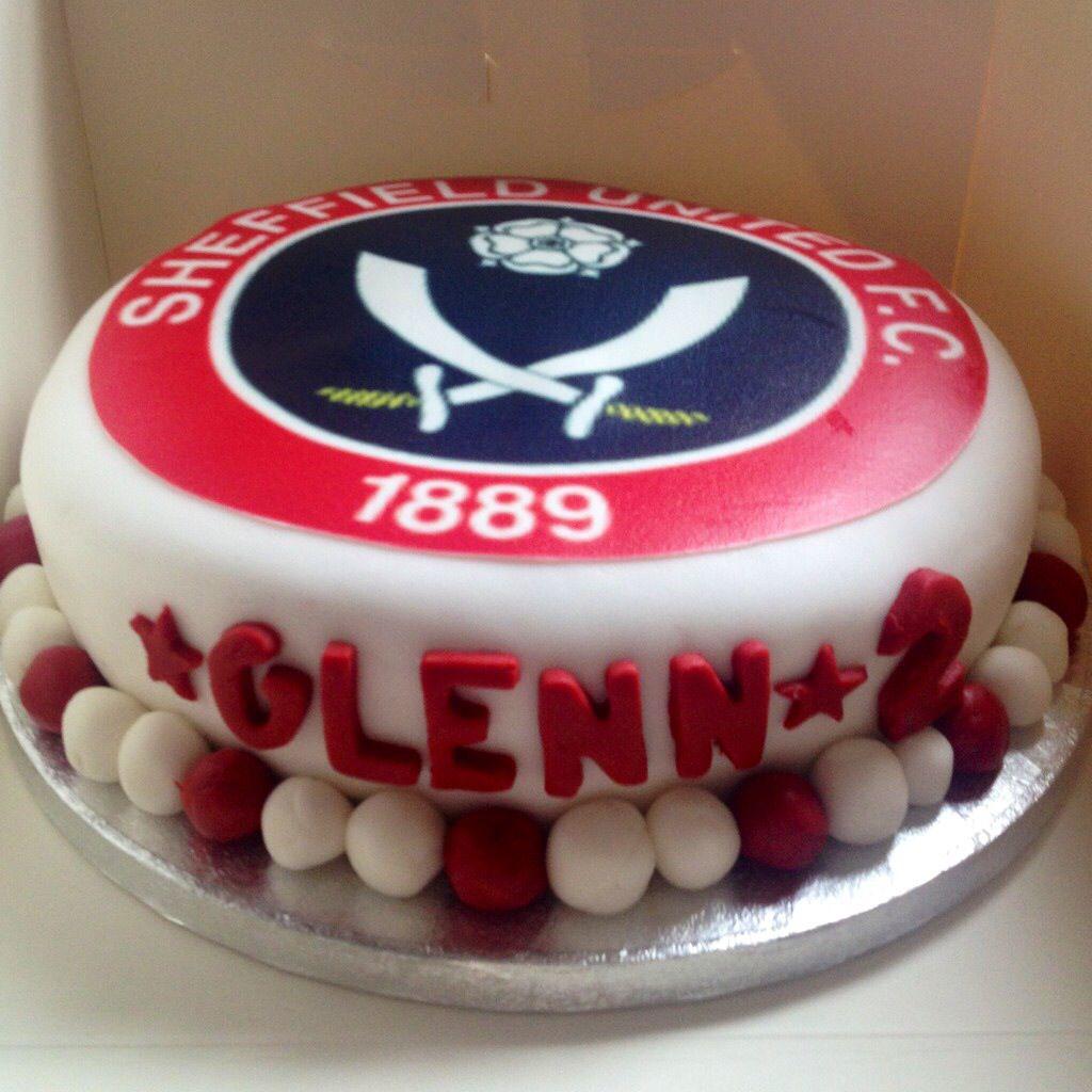 A Sheffield United birthday cake made for Free Cakes for Kids