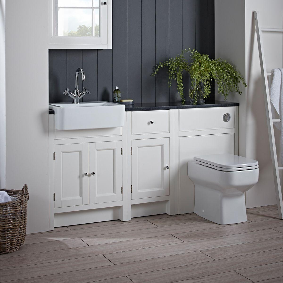 Roper Rhodes Hampton Chalk White Bathroom Storage Units Bathroom Furniture Fitted Bathroom