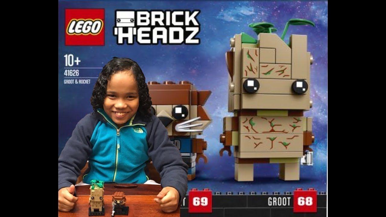 Lego Brickheadz: Groot and Rocket - unboxing and speed build
