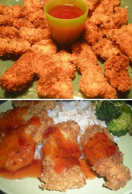 For dinner today I made homemade Asian juicy crispy chicken fingers. These are way better than Popeye's chicken.