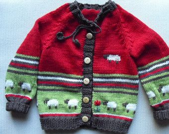 7f5830712b5859 Pattern baby cardigan with Rabbit and Hedgehog.White cardigan.