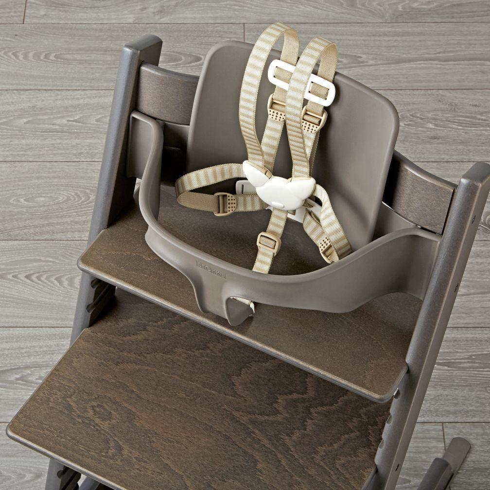 Hazy Grey Tripp Trapp Baby Set From Stokke The Land Of Nod Stokke High Chair High Chair Baby Sets