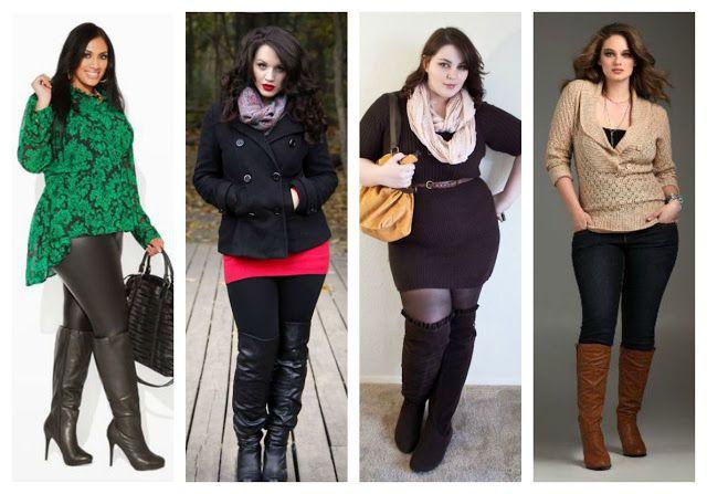 366ff22223 Las mujeres con curvas también pueden usar estas botas. El truco es usar  colores oscuros en la parte inferior y marcar la cintura.
