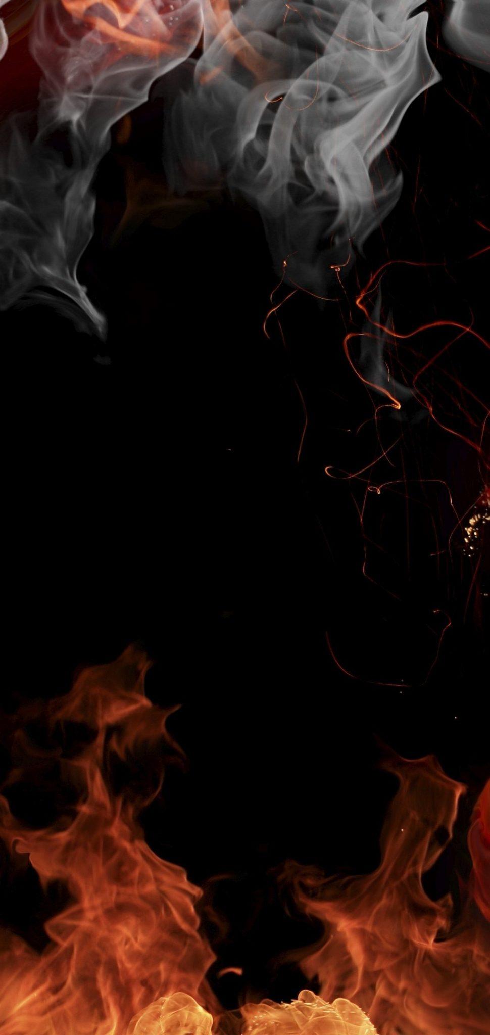 Fire Smoke Flowers Wallpaper 1080x2280 HD Wallpaper