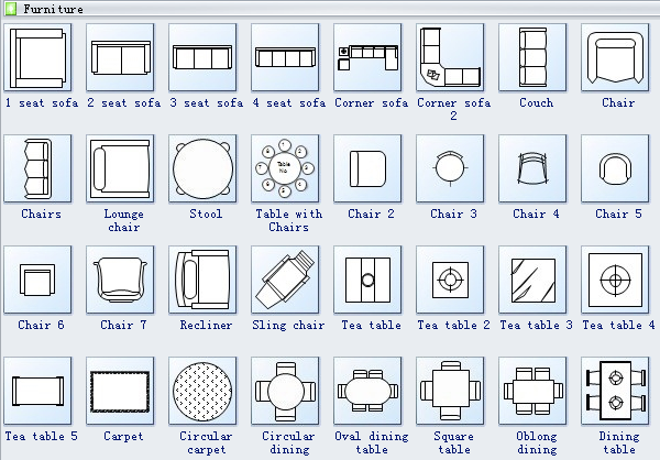 Floor Plan Symbols 2 | regina house | Pinterest | Symbols, Interiors ...