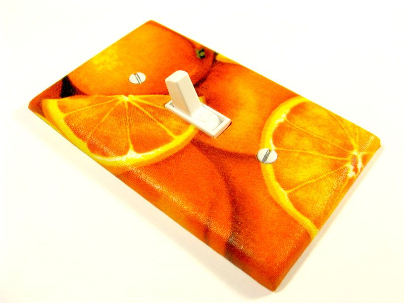 Orange Citrus Kitchen Decor Switchplate Light Switch Cover Home Decor Fruit Switch Plate Last One 324