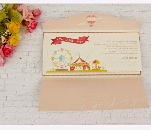 Vinas invitation Wedding invitation Unique invitation Souvenir - wedding invitation design surabaya