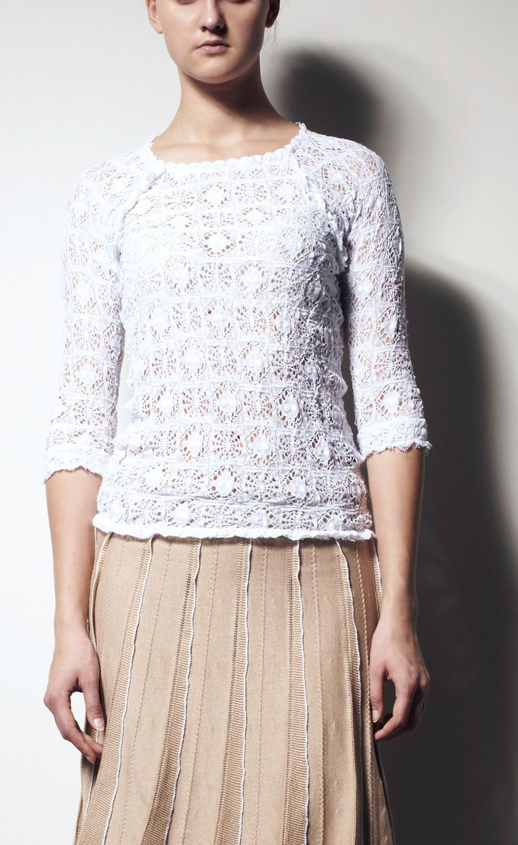 Isabel Marant White Lace Top