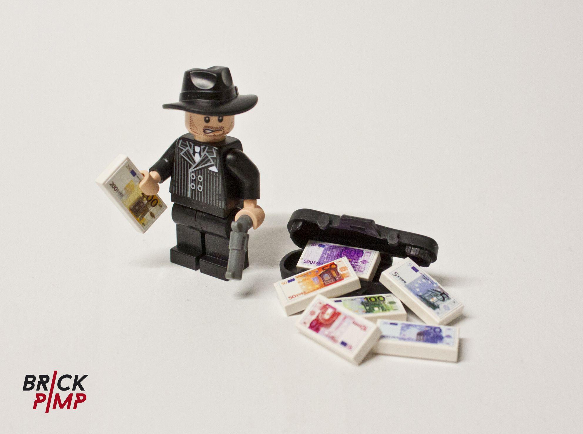 EURO NOTES Sticker for LEGO tiles and bricks on www.brick-pimp.com