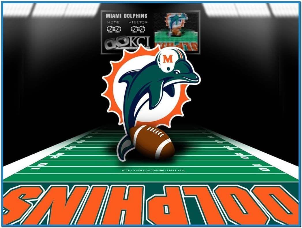 Miami dolphins screensaver wallpaper