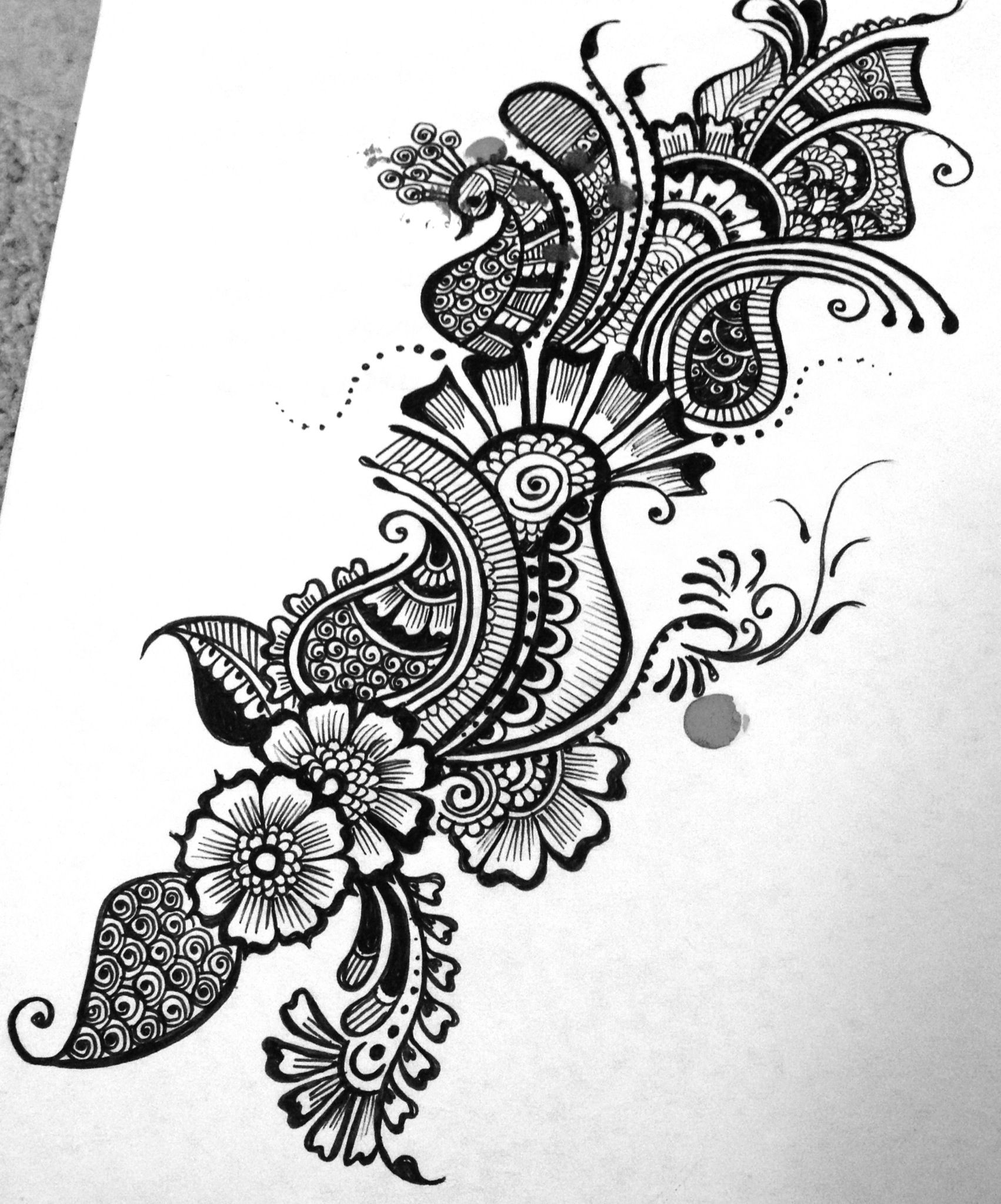 Mehndi design sketches