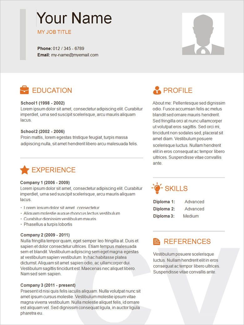 26++ Simple resume template word free download Examples