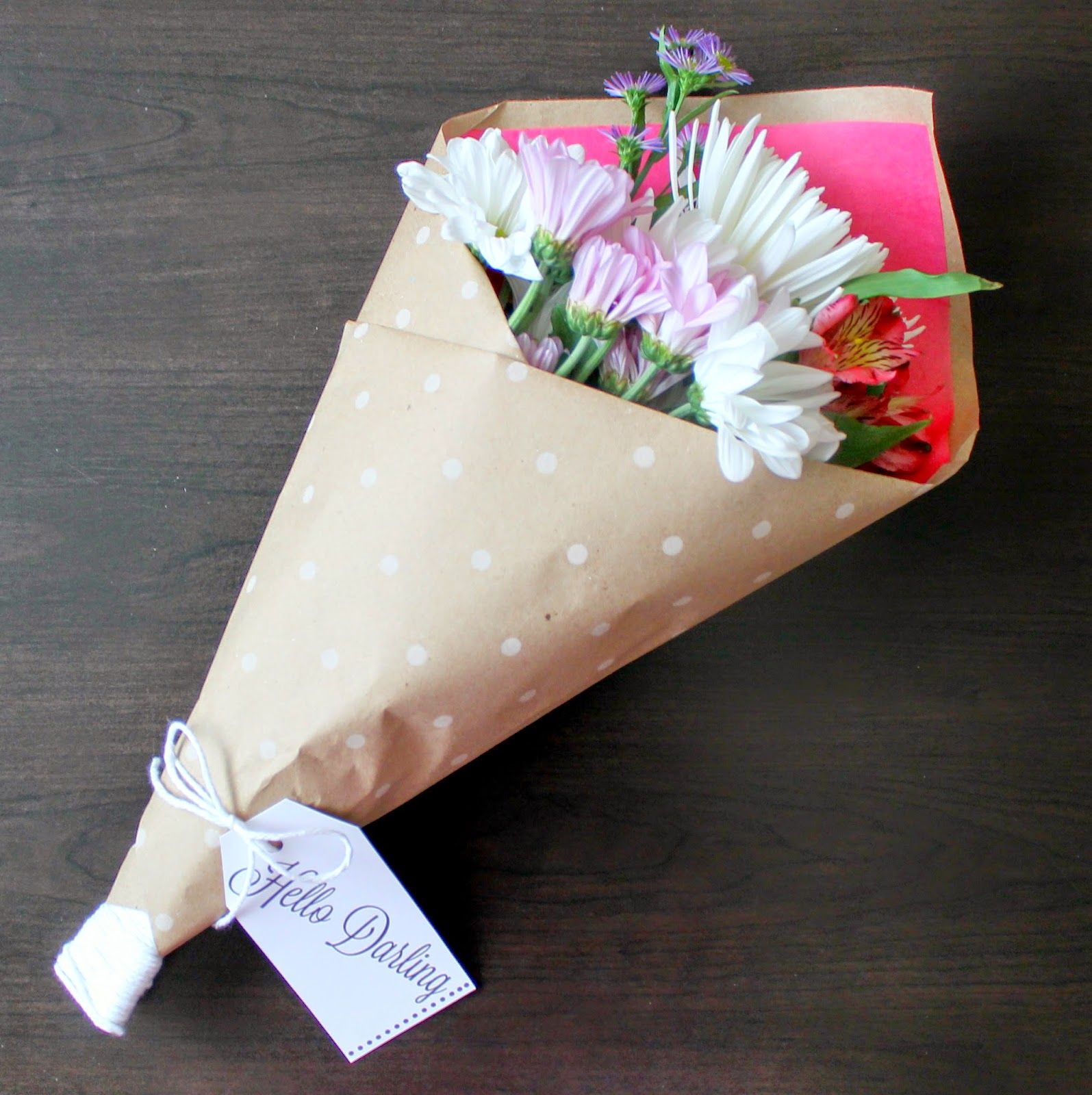 How to gift wrap a bouquet u printables bloom gifts flowers