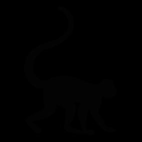 Monkey Silhouette Image 2 Png 283 283 Monkey Art Animal Line Drawings Animal Silhouette
